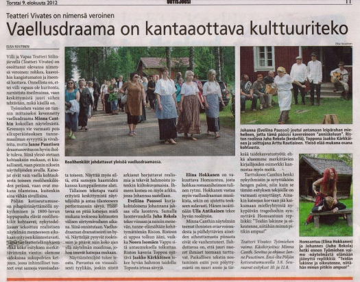 Elisa Nuutinen / Uutis-Jousi 9.8.2012