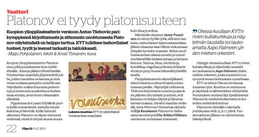 Maiju Pohjolainen / Uljas 9.12.2012
