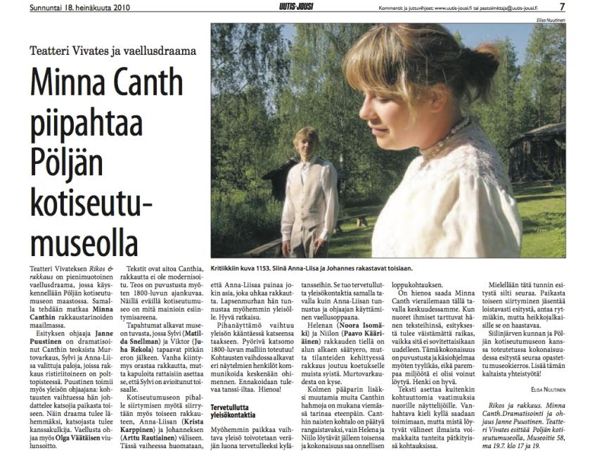 Elisa Nuutinen / Uutis-Jousi 18.7.2010