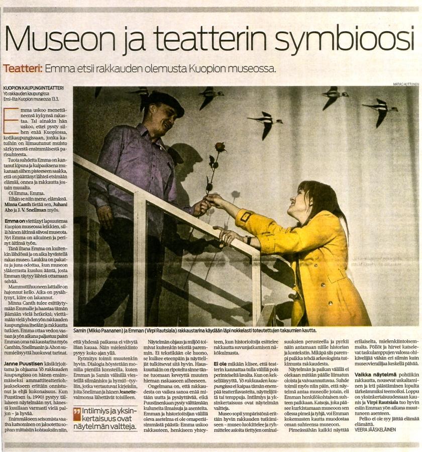 Veera Jääskeläinen / Savon Sanomat 15.3.2013