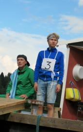Erkki (Ismo Rautiainen) ja Rambo (Eerik Lappalainen). Kuva: Elisa Rautiainen.