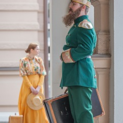 Isä ja tytär, Aleksander ja Aino Järnefelt (Severi Roivanen ja Helmi Knuutinen). Kuva: JP Korpi-Vartiainen.